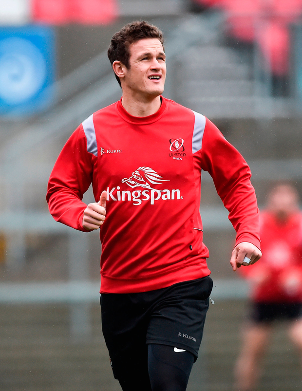 Billy Burns during the Ulster Rugby Captain's Run. Photo: Sportsfile