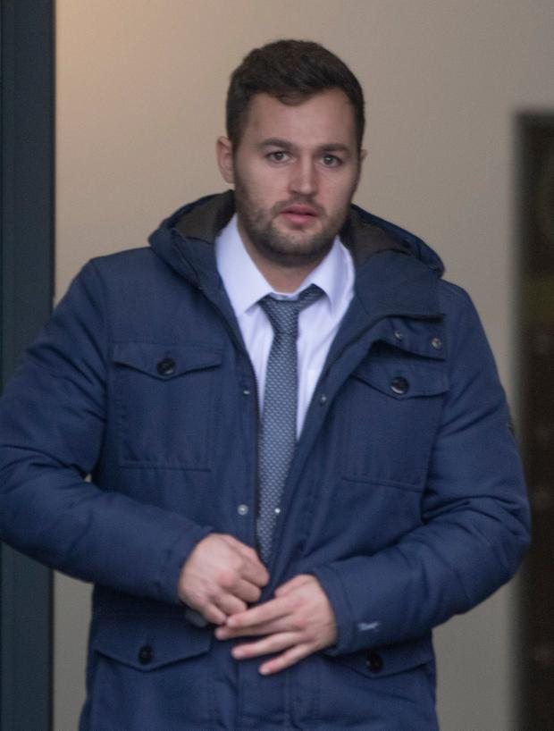 'Accepted responsibility': Josh Moffitt leaves Letterkenny District Court. Photo: North West Newspix
