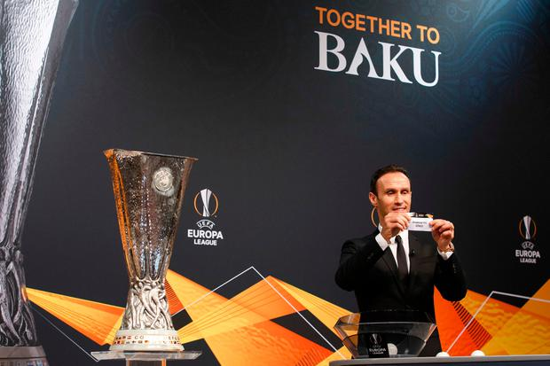 UEFA had announced before yesterday's draw that the second leg of Arsenal's tie would be on Wednesday February 20, rather than in the regular Thursday night slot, and with a teatime kick-off. AP photo