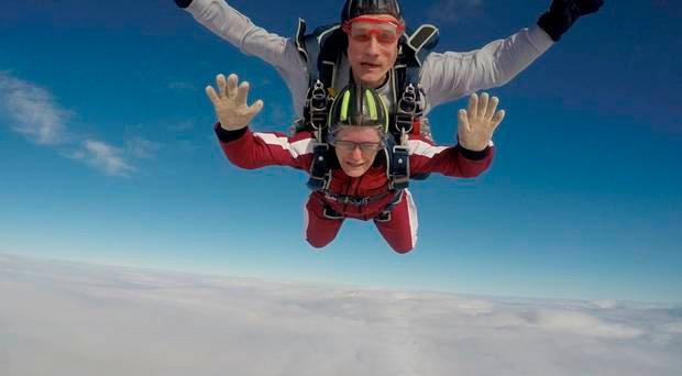 Yvonne is a self-confessed adrenaline junkie and wanted to do something special to mark the 20th anniversary of her son James' death