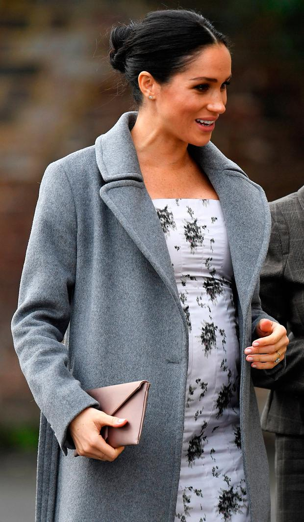 Meghan, The Duchess of Sussex, arrives to visit the Royal Variety Charity's residential nursing and care home Brinsworth House, in west London, Britain, December 18, 2018. REUTERS/Toby Melville