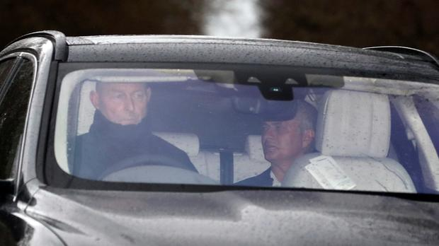 Jose Mourinho leaves the Aon Training Complex, Manchester.