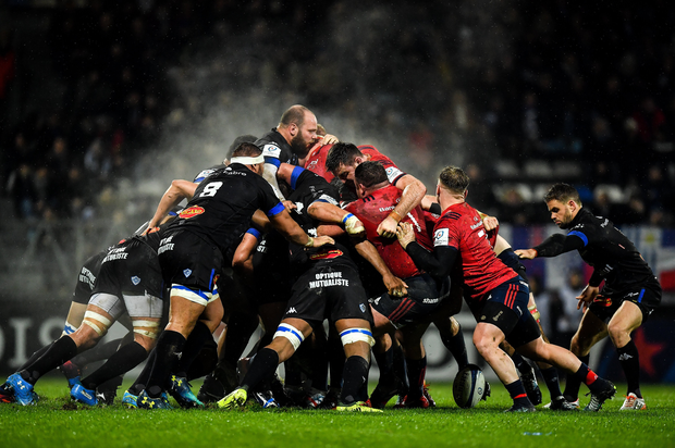 15 December 2018; Rory Kockott of Castres Olympique waits for the ball to come out of the scrum during the Heineken Champions Cup Pool 2 Round 4 match between Castres and Munster at Stade Pierre Fabre in Castres, France. Photo by Brendan Moran/Sportsfile