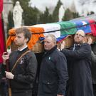 The Funeral of Sean Garland at Glasnevin. PIC COLIN O'RIORDAN