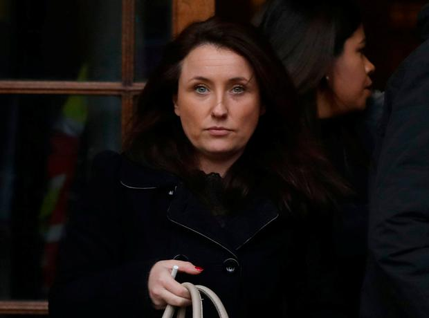 Michelle Dwyer pictured leaving the Four Courts. Photo: Collins