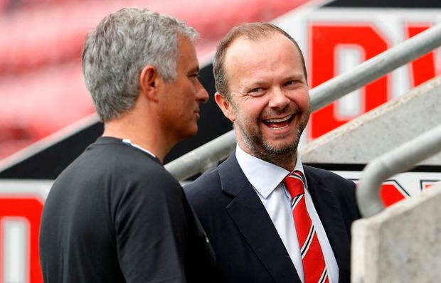 Trust: Jose Mourinho with Manchester United executive vice chairman Ed Woodward. Photo: REUTERS