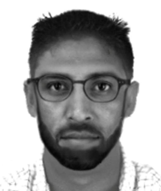 An e-fit of the man gardaí were seeking