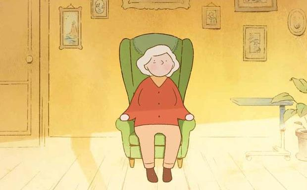 It tells the story of an elderly woman, voiced by actress Fionnula Flanagan, as she drifts back through her memories, existing between two states – the past and the present.