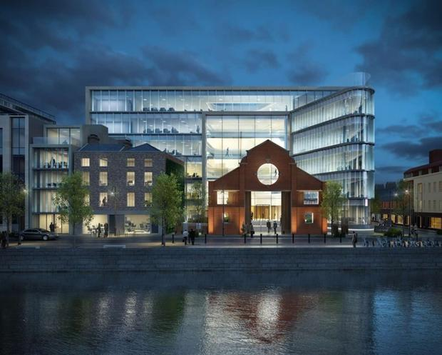 Hibernia will lease all 112,000 sq ft of the office space at its 1 Sir John Rogerson's Quay (1SJRQ) development to US tech giant Hubspot.
