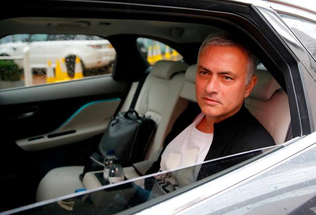 Jose Mourinho is driven away from his accommodation after leaving his job as Manchester United's manager, in Manchester, Britain, December 18, 2018. REUTERS/Phil Noble