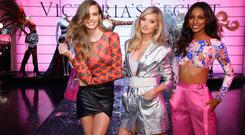 (L-R) Josephine Skriver, Elsa Hosk and Jasmine Tookes attend as VS Angels celebrate the Victoria's Secret Fashion Show airing