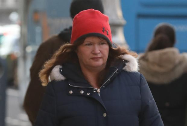 Samantha Ring, of Ridgewood Avenue, Forest Road, Swords, Co. Dublin, mother of Zachary and Harvey Ring - pictured leaving the Four Courts yesterday(Wed) after the Circuit Civil Court approved settlement offers of €25,300 and €48,775 respectively for Zachary and Harvey Pic: Collins Courts