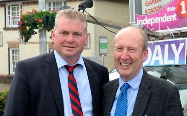 Kevin Daly and Shane Ross. Photo: Justin Farrelly