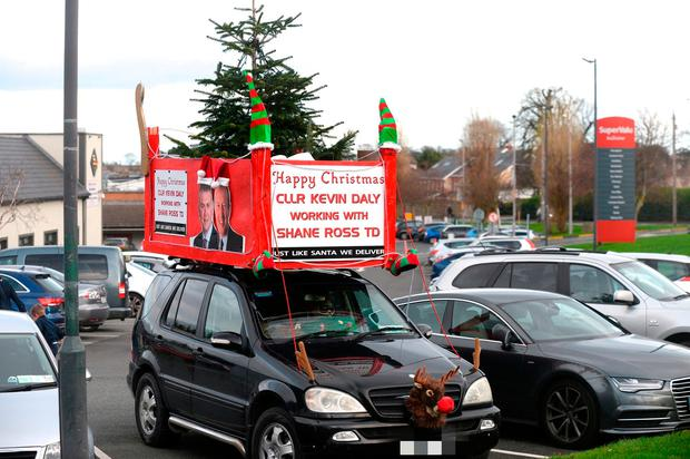 a59a817ed4d1a Festive  The Christmas tree on a car in Stepaside. Photo  Justin Farrelly