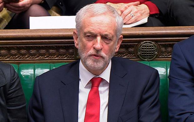 Jeremy Corbyn in the House of Commons yesterday. Photo: REUTERS