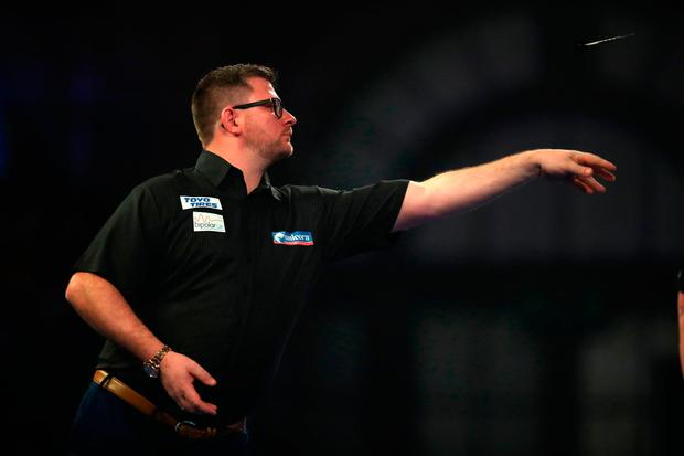 James Wade during day seven of the William Hill World Darts Championships at Alexandra Palace