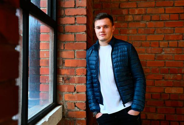 Ireland's rugby star Jacob Stockdale. Photo: Frank Mc Grath