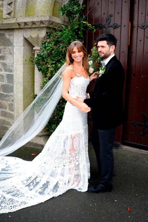 a08ea03ce63c1 Cian O'Sullivan and Danielle Byrne's wedding at Saint Laurence and Mary  Church Co.Kildare. Picture: Justin Farrell
