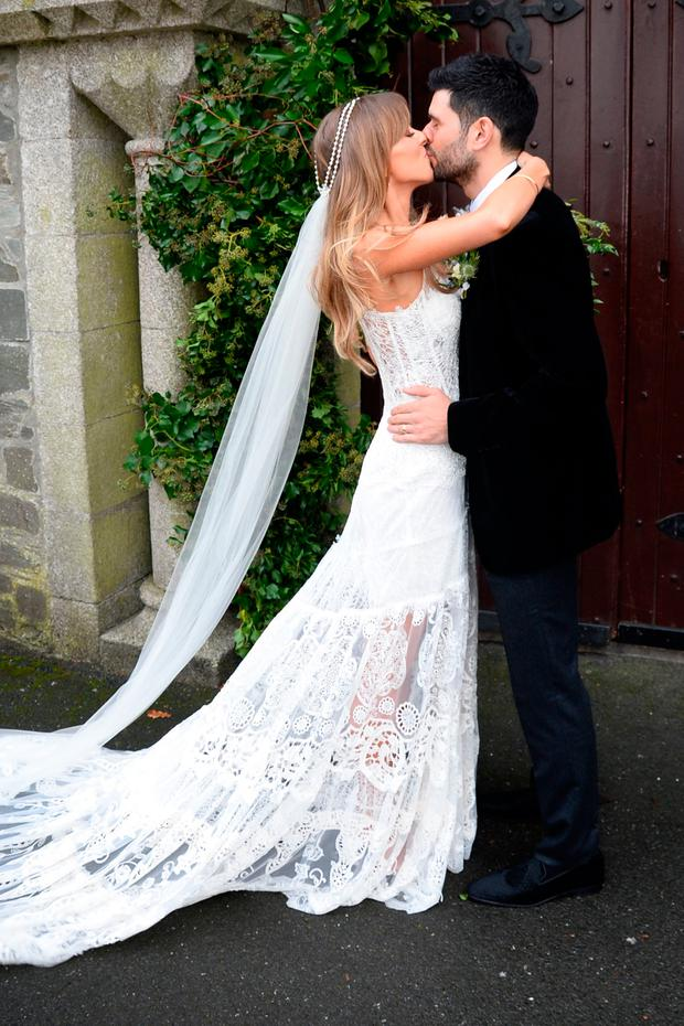 Cian O'Sullivan and Danielle Byrne's wedding at Saint Laurence and Mary Church Co.Kildare. Picture: Justin Farrell