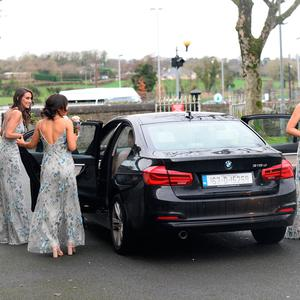 The bridesmaids arriving to Cian O'Sullivan and Danielle Byrne's wedding