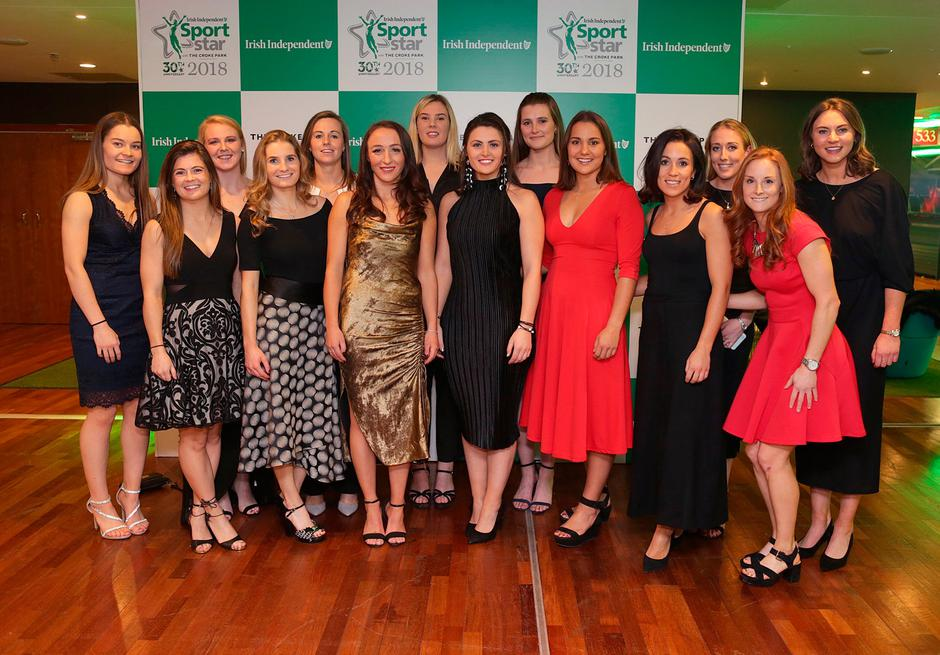 20/12/2018, The Ireland Women's Hockey Team who won the Team of the Year award at the Irish Independent Sportstar of the Year Awards at Croke Park. Picture credit; Damien Eagers / INM