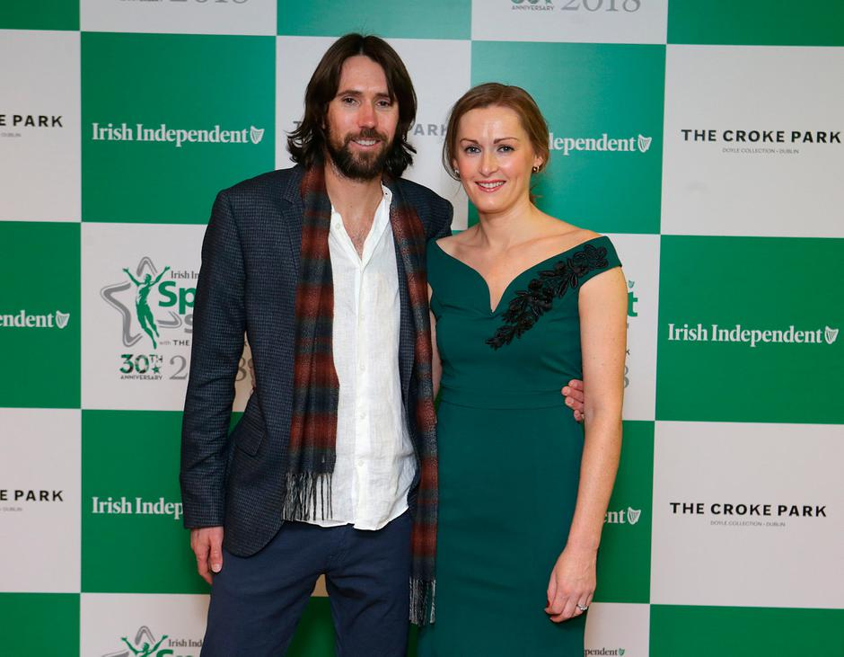 20/12/2018 Irish athlete, Mick Clohisey and his wife Crona at the Irish Independent Sportstar of the Year Awards at Croke Park. Picture credit; Damien Eagers / INM