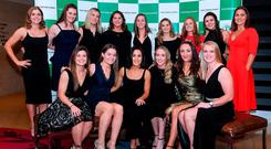Members of the Ireland women's hockey team at the Irish Independent Sportstar of the Year Awards in association with the Croke Park Hotel. Photo: Harry Murphy/Sportsfile