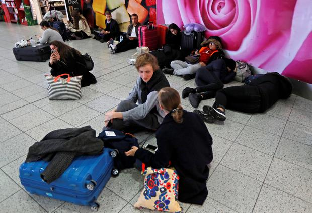 Passengers wait around in the South Terminal building at Gatwick Airport REUTERS/Peter Nicholls