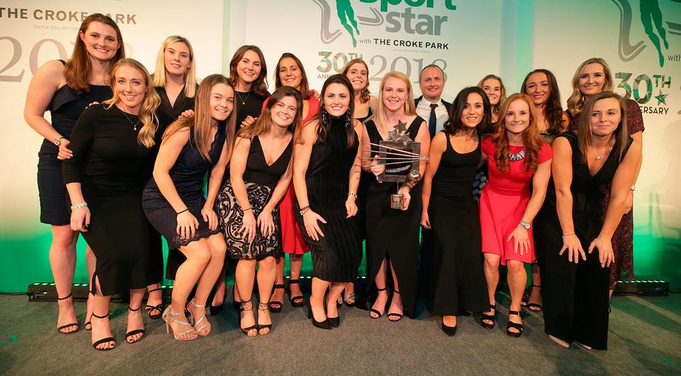 The Ireland ladies hockey team who were awarded the sports team of the year at the Irish Independent Sports Star of the year Awards at Croke Park. Picture credit; Damien Eagers / INM