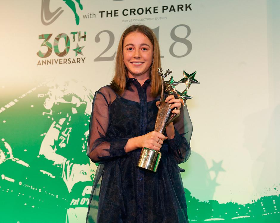 Sarah Healy, who was awarded the young sports star of the year award at the Irish Independent Sports Star of the year Awards at Croke Park. Picture credit; Damien Eagers / INM