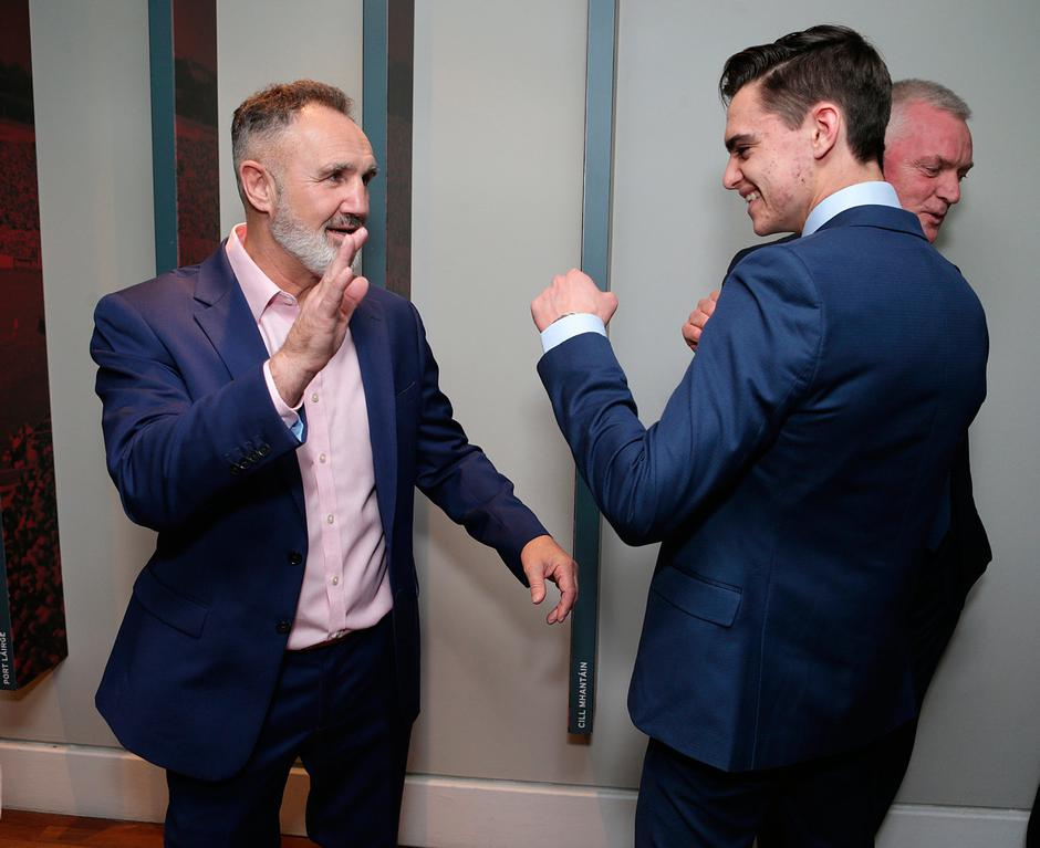 Boxing coach, Billy Walsh, left and Donnacha O'Brien, Jockey at the Irish Independent Sports Star of the year Awards at Croke Park. Picture credit; Damien Eagers / INM