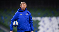 14 December 2018; Head coach Leo Cullen during the Leinster Rugby captains run at the Aviva Stadium in Dublin. Photo by Ramsey Cardy/Sportsfile