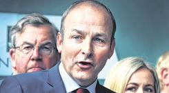 Risky: Fianna Fail leader Micheál Martin is taking a big gamble with the Confidence and Supply extension. Photo: Steve Humphreys