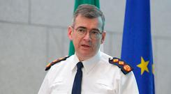Action: Garda Commissioner Drew Harris and his team have drawn up a Border security plan in the event of a no-deal Brexit. Photo: Damien Eagers / INM