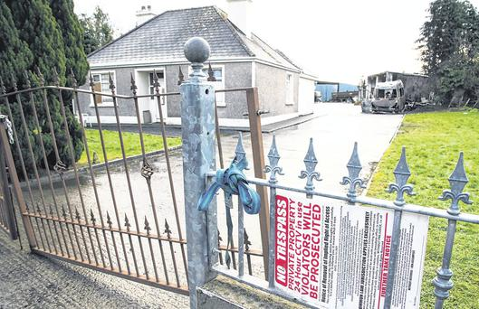 Centre of attention: The house in Strokestown where a family was evicted