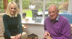 Alec O'Riordan with Sinead Kissane at Alec's home in Clonskeagh