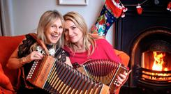 Guests included Sharon Shannon, with Rosabel's mum Suzanne McClean
