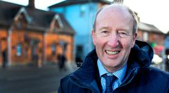 REFLECTIVE: Minister Shane Ross in Dundrum Village. Photo: Steve Humphreys