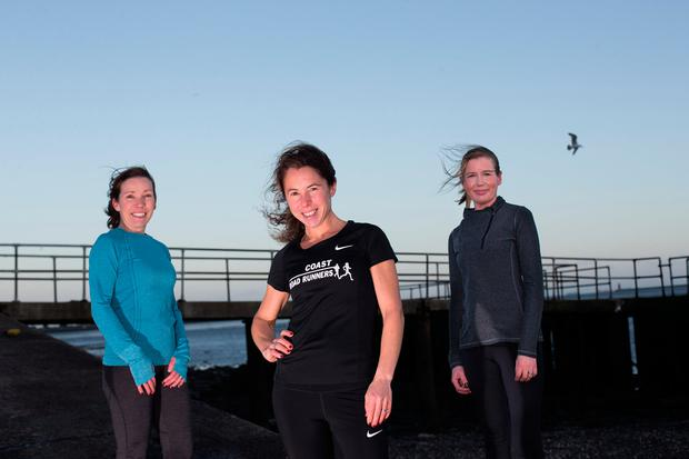 BENEFITS: Katharine Teeling (centre) with Jenny Ring and Aisling O'Malley in Clontarf, Dublin. Photo: Mark Condren