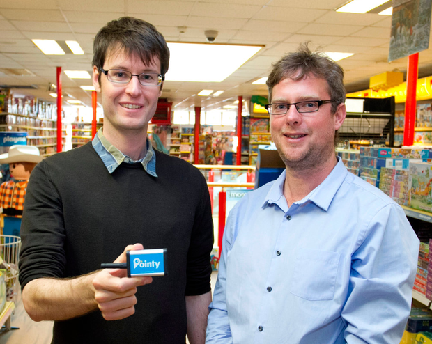 Mark Cummins and Charles Bibby, cofounders of Pointy. Picture: Colm Mahady / Fennells