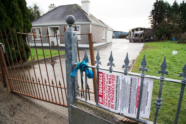 VIOLENCE: House in Strokestown where vans were burned out