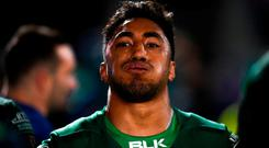 Bundee Aki of Connacht following the Guinness PRO14 Round 11 match between Leinster and Connacht at the RDS Arena in Dublin. Photo by Eóin Noonan/Sportsfile