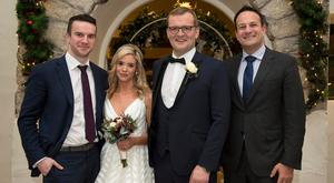 Claire McTernan and John Paul Phelan with Taoiseach Leo Varadkar and his partner Matt Barrett