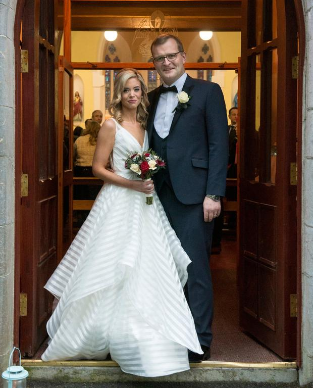 Big day: Claire McTernan and John Paul Phelan after tying the knot