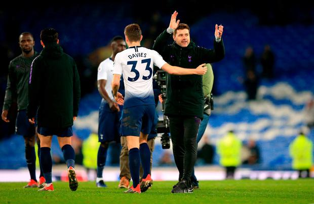 Earning Spurs: Mauricio Pochettino guided Tottenham to a superb victory at Everton yesterday. Photo: Peter Byrne/PA Wire