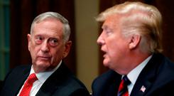 James Mattis with US President Donald Trump. Photo: REUTERS/Leah Millis