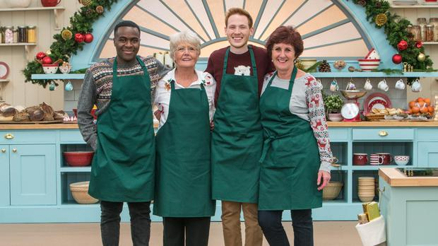 Four bakers return for the Christmas special (Channel 4)
