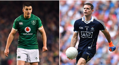 Johnny Sexton (left) and Stephen Cluxton (right).