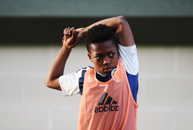 EDINBURGH, SCOTLAND - OCTOBER 30: Karamoko Dembele of Scotland is seen during the Scotland v Northern Ireland match during the U16 Vicrory Shield Tournament at The Oriam at Heriot Watt University on October 30, 2016 in Edinburgh, Scotland. (Photo by Ian MacNicol/Getty Images)