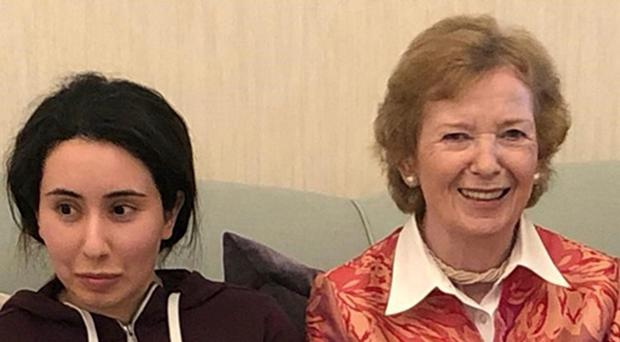 'Missing' Dubai princess 'meets with' former President and UN Commissioner Mary Robinson